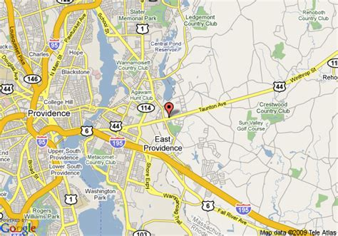 map of johnson and wales inn seekonk