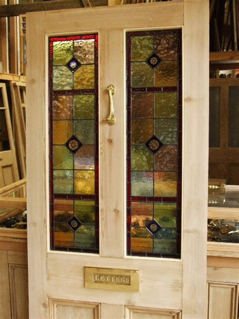 stained glass front door stained glass reclaimed front door stained