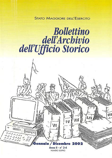 ufficio storico esercito bollettini d archivio esercito italiano