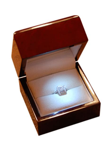 engagement ring box with light engagement ring box with light heavy wood