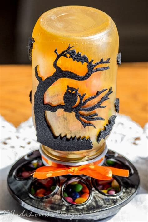 diy halloween decorations and crafts 2016 decoration y 16 diy mason jar crafts for halloween d 233 cor shelterness