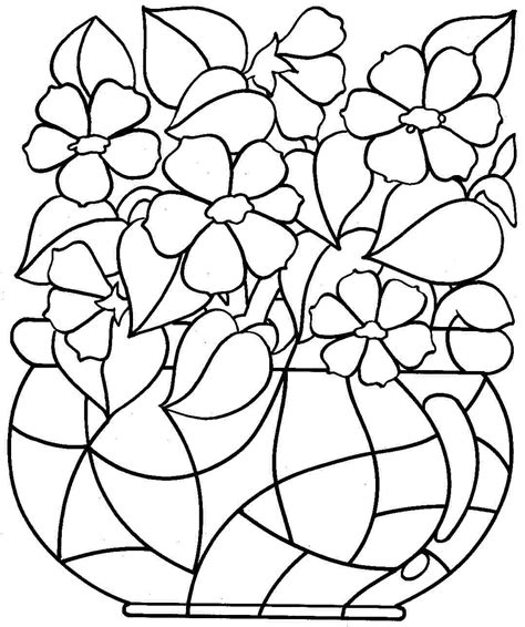 free printable coloring pages of flowers for kids