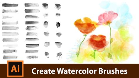 how to water color create your own watercolor brushes for adobe illustrator