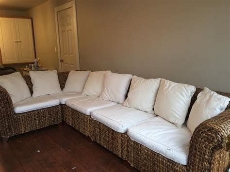 pottery barn seagrass sectional pottery barn seagrass sectional central saanich victoria