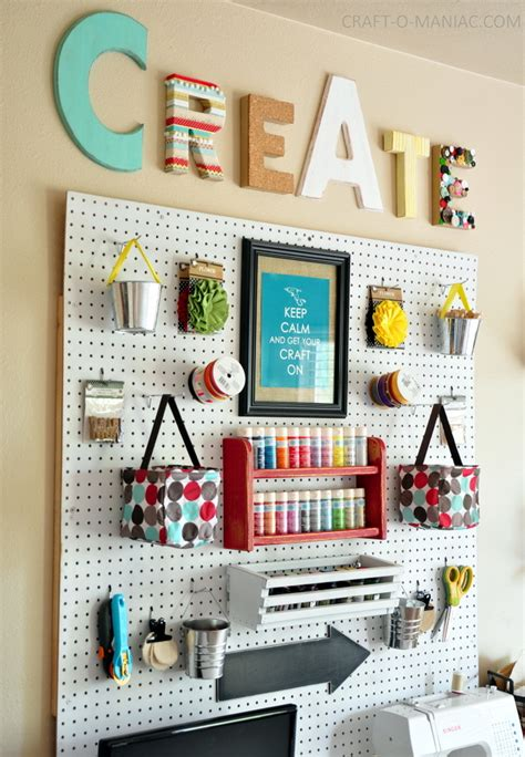 Pegboard Ideas | 10 craft room pegboard organization ideas dawn nicole