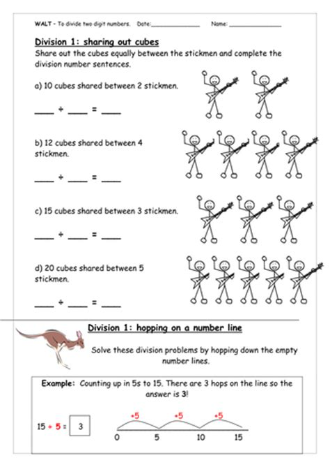 worksheet on the open boat answer key dividing two digit by one digit using numberlines by