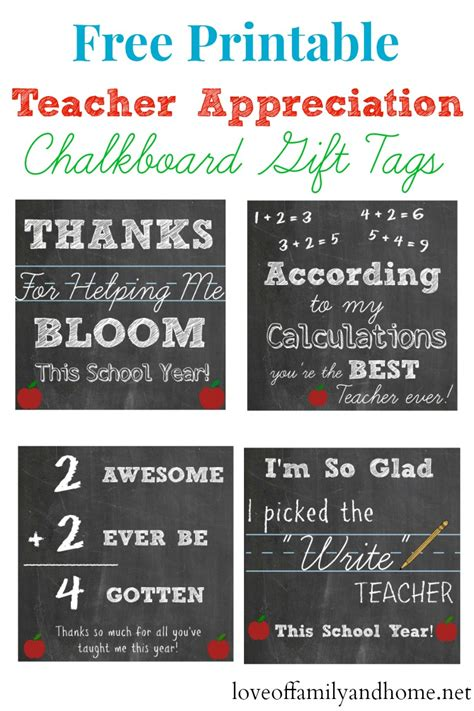 printable christmas gift tags for teachers free printable teacher appreciation chalkboard gift tags