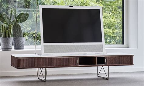 corian wood corian and walnut ak2720 tv stand scandinavian studio