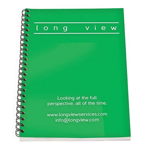 Green Recycled Polypropylene A5 Wiro Notebook - a4 wiro coloured pp notebook promotional personalised
