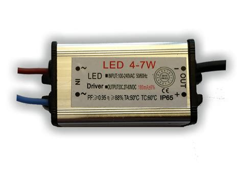 Driver Led 7 Watt led driver 180ma 27 63v 4 7 watt led verlichting