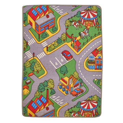 large car play rug large car play mat 120 x 80cm town children s carpet rug ebay