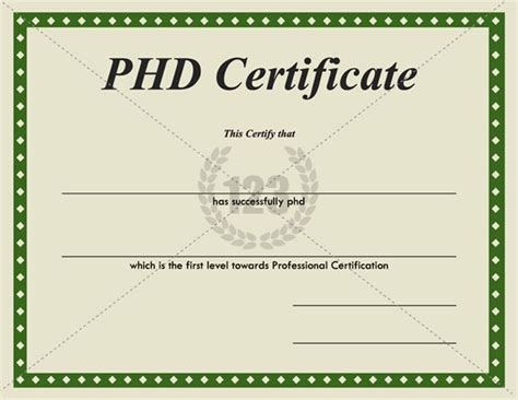 Most Valuable Phd Certificates For Download 123certificate Templates Certificate Template Phd Diploma Template