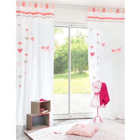 vorhange kinderzimmer maison du monde tenda rosa in cotone con passanti 105 x 250 cm