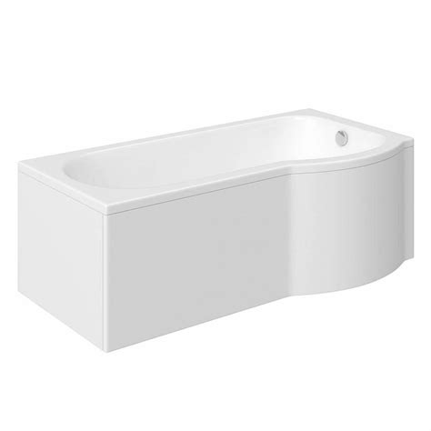1675 Shower Bath orchard p shaped right handed shower bath 1675mm with 6mm