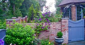 brick wall garden ideas landscape eclectic with wall