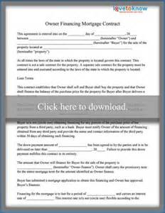 Financial Contract Template by Owner Financing Mortgage Contract Sle