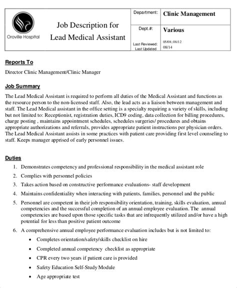 physician assistant description physician assistant description template 28 images sle