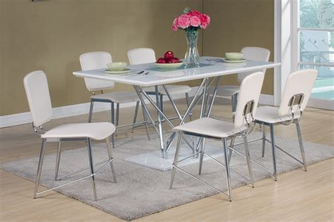 high table with 6 chairs white high gloss dining table and 6 matching chairs