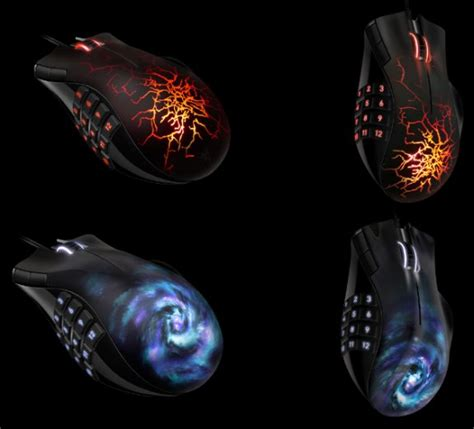 Mouse Razer Naga Molten razer naga maelstrom and molten special edition mice unveiled