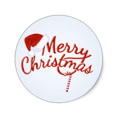 Aufkleber Frohe Weihnachten by Merry Stickers Zazzle Co Uk