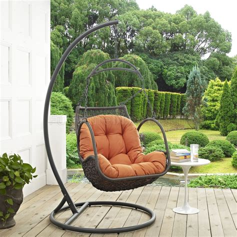 arbor outdoor patio wood swing chair  modway choice  color
