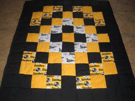 Steelers Quilt by Handmade Pittsburgh Steelers Throw Quilt Personalized