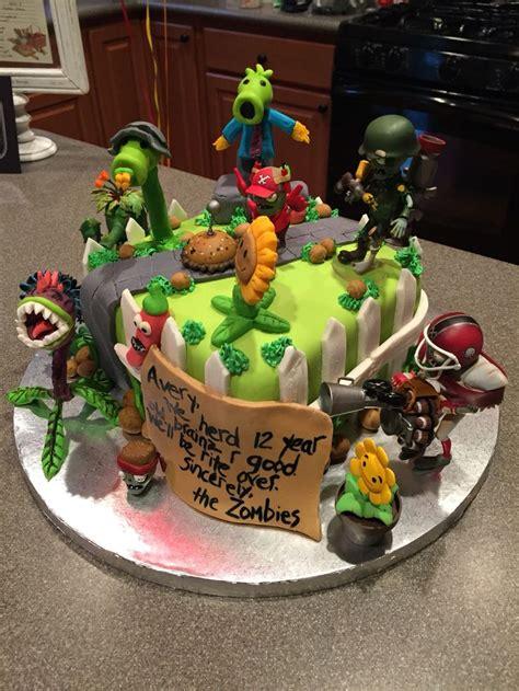Doh Color Cake Decor Fd 040 plants vs zombies garden warfare cake cakes plants vs zombies warfare and plants