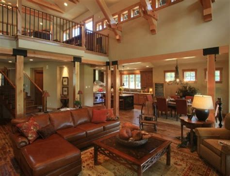 custom mountain home suncadia traditional living room
