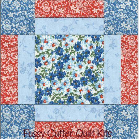 quilt pattern for beginners turquoise blue red flowers floral fabric easy beginner pre