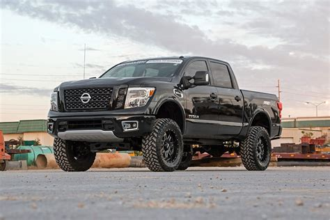 nissan titan xd lifted rough country 6 lift for the 2016 nissan titan xd
