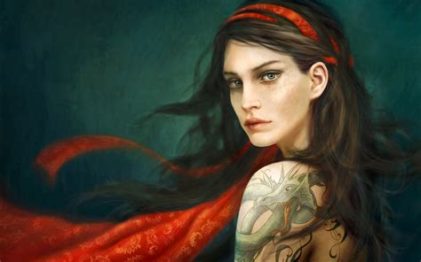 themes of girl with the dragon tattoo 27592 blue eyed girl with tattoo on arm and shoulder