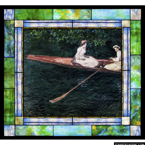 boating on the river epte boating on the river epte by oscar claude monet