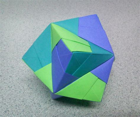 Stellated Octahedron Origami - origami stellated octahedron top by theorigamiarchitect