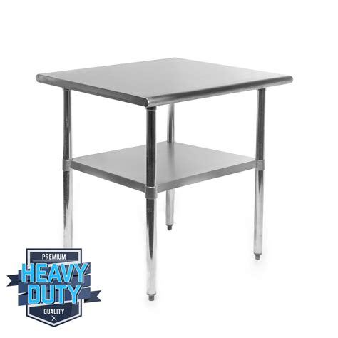 Metal Kitchen Prep Table Stainless Steel Commercial Kitchen Work Food Prep Table 24 Quot X 30 Quot Ebay