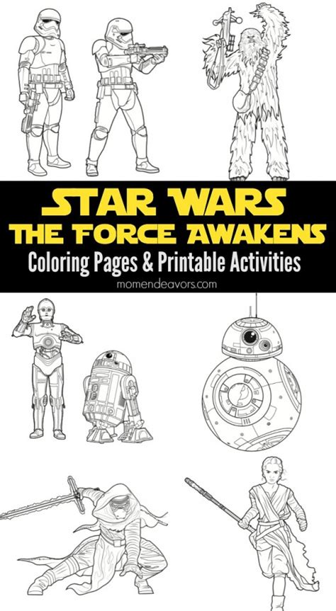coloring pages wars awakens wars the awakens printable activities