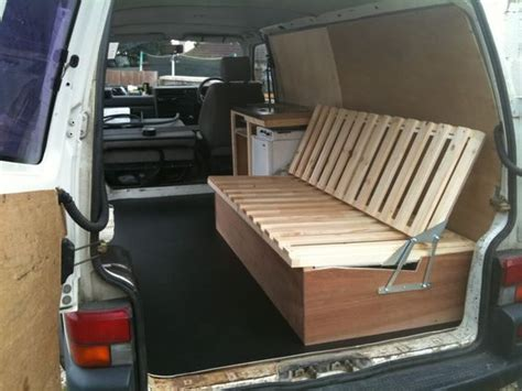 futon in van self made wooden seat beds pics please page 2 vw t4