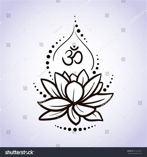 lotus flower pattern line on isolated background logo for
