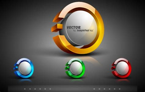 3d logo templates 3d technology glossy elliptical logo template free