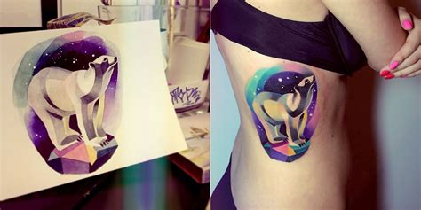 watercolor tattoo unisex colourful and cosmic 3d tattoos by artist unisex