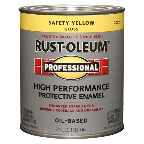 shop rust oleum professional safety yellow gloss based enamel interior exterior paint