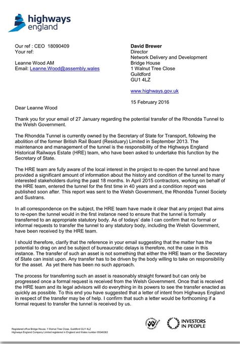 Transfer Of Ownership Letter Uk leannewood on quot letter received from highways