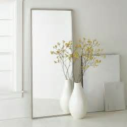metal framed floor mirror west elm
