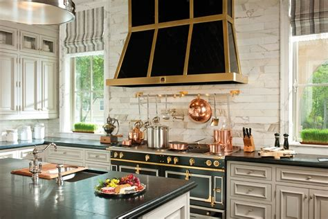 Parisian Kitchen Design by Tiffany Leigh Interior Design Kitchens Black White And Gold