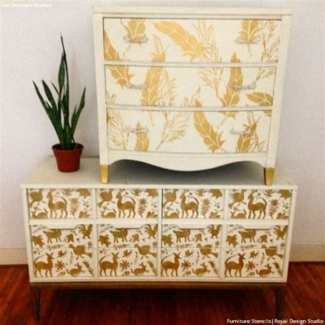 Stencils For Furniture Painting 1000 Images About Stenciled And Painted Furniture On