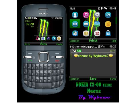 latest themes for nokia c3 00 mobile phones nokia c3 x2 01 theme monster