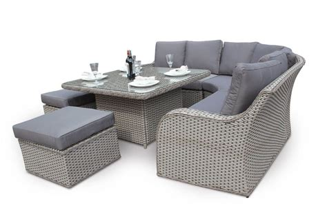 outdoor sofa dining set 9pc modular corner daybed sofa dining set tri weave rattan