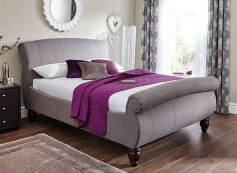 Grey Fabric Bed Frame Helsinki Bed Frame Dreams