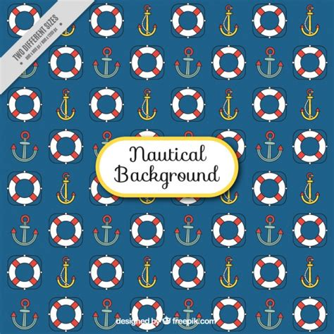 nautical pattern vector free background with nautical pattern vector free download