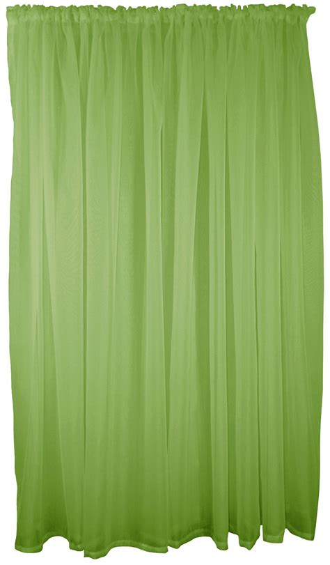 green swag curtains lime green 5 piece voile set rod pocket curtains drapes