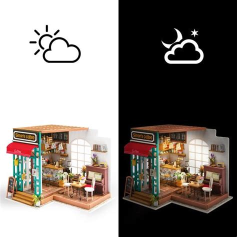 simons coffee wooden diy house squoodles